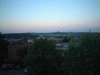 Winchesterの町の夕暮れ